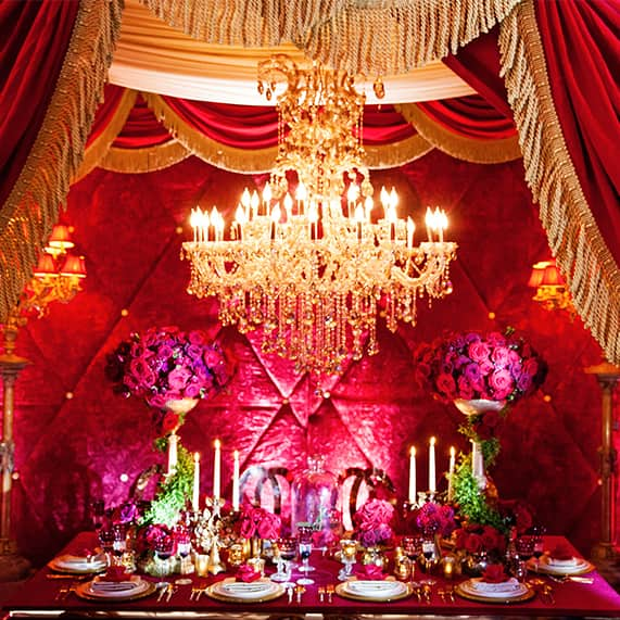 Decor: Beauty and the Beast Inspired Grand Reception | Disney Weddings