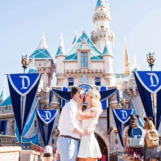 Proposal at Sleeping Beauty's Castle