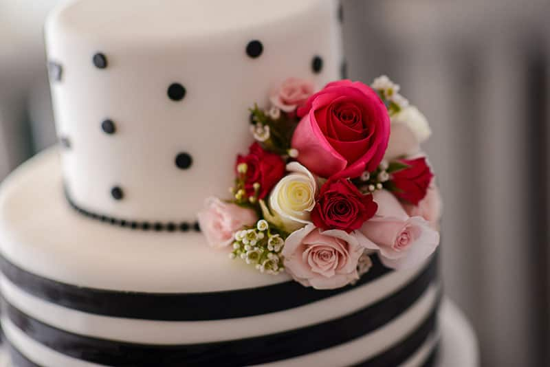 Wedding Cake Wednesday Black And White Simplicity Disney Weddings