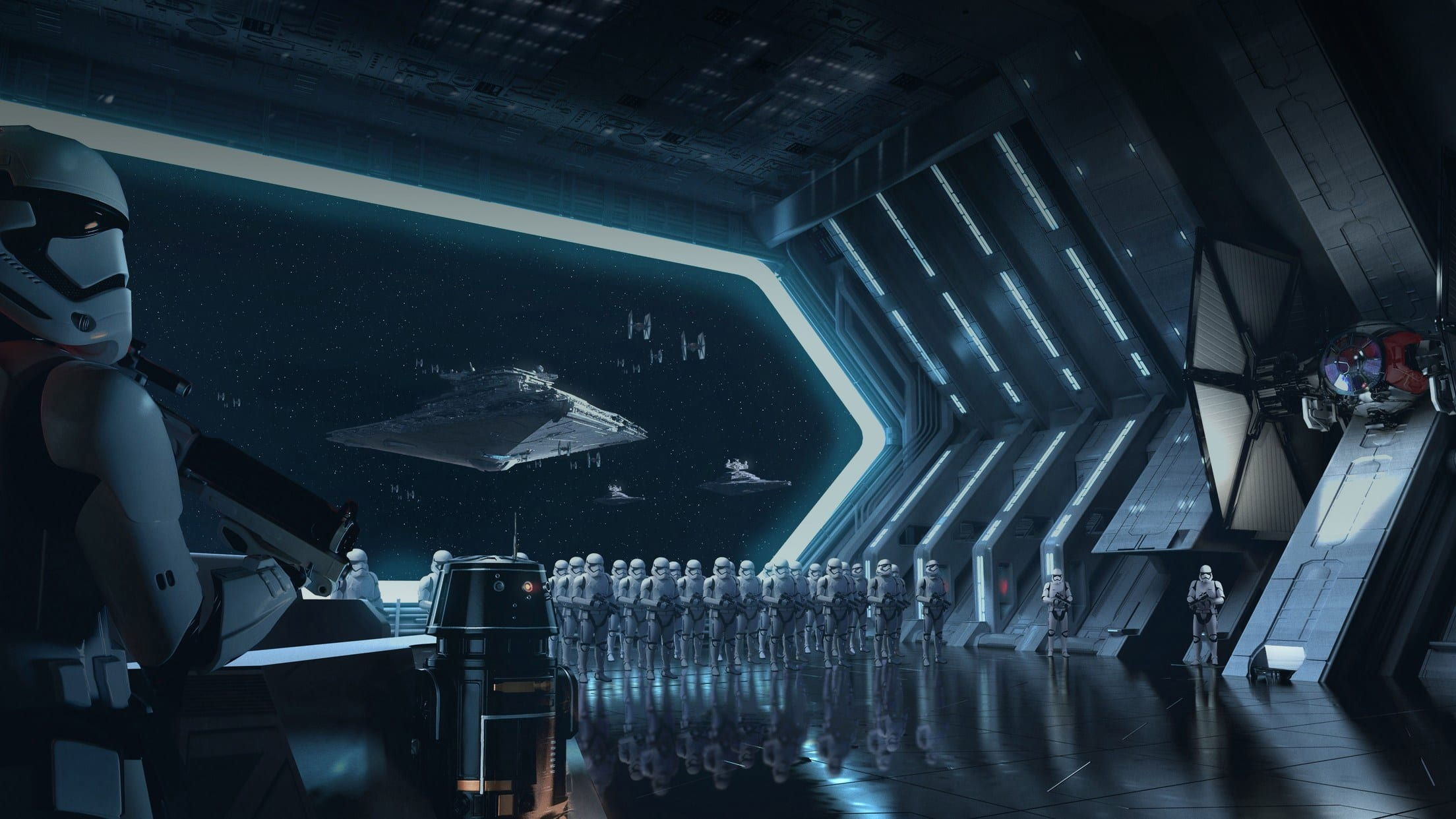 Stormtroopers aboard a Star Destroyer