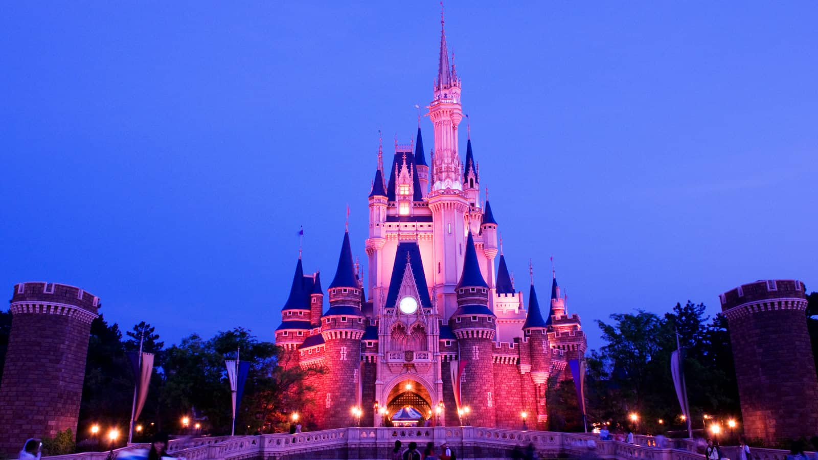 The exterior of Cinderella Castle in Tokyo Disneyland