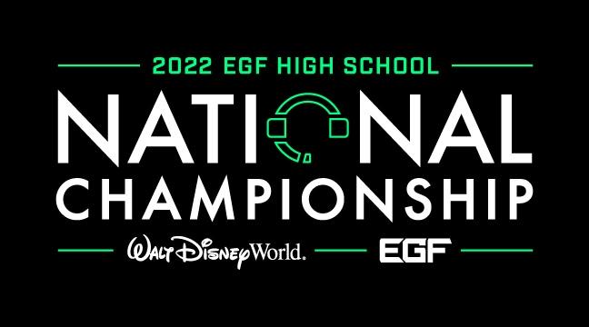 2022 Walt Disney World EGF High School National Championship Logo