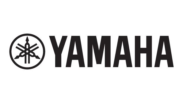 A Yamaha logo featuring a tuning fork