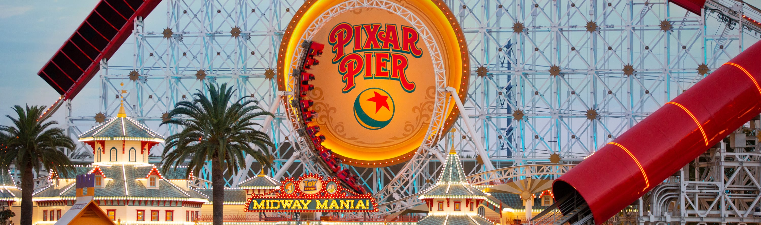 Pixar Pier and Toy Story Midway Mania at Disney California Adventure Park